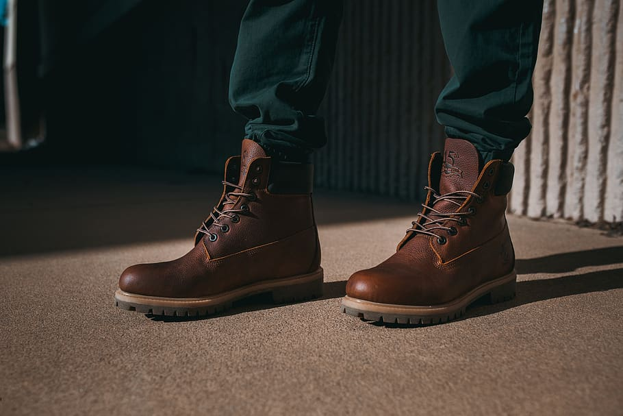 a-pair-of-brown-timberland-boots