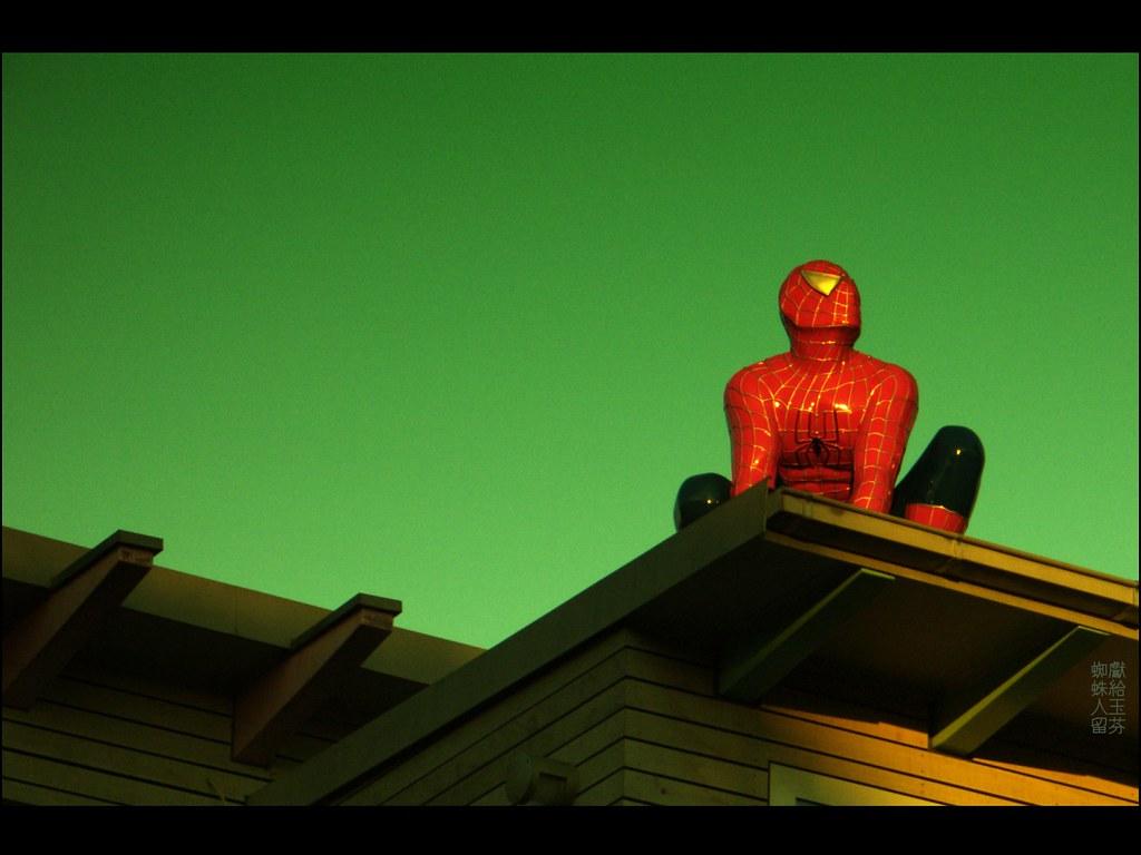 spiderman on roof