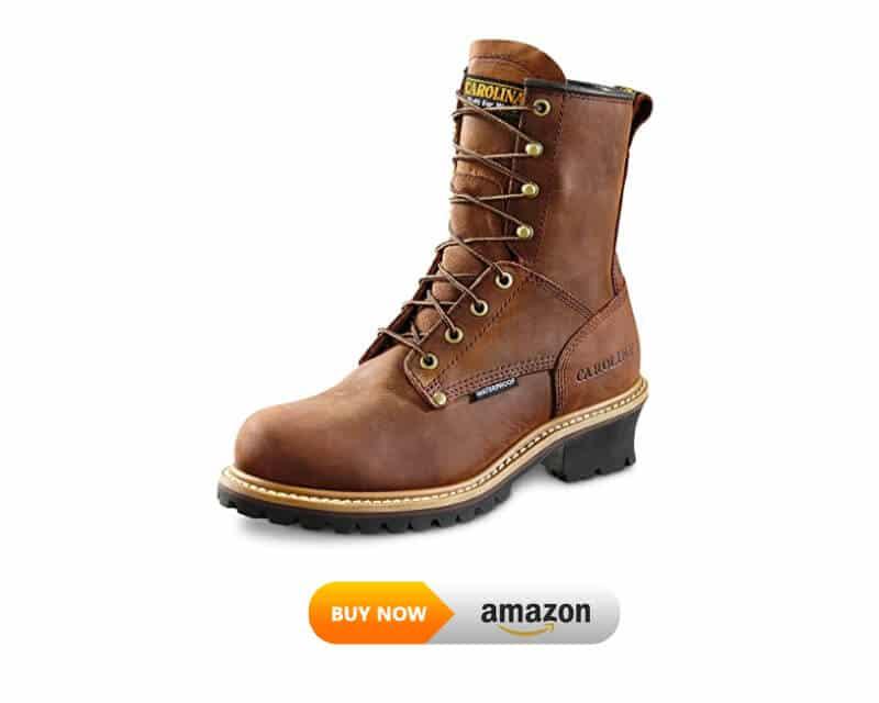 Carolina Boots: Men's 8 Inch Waterproof Logger Boots CA8821