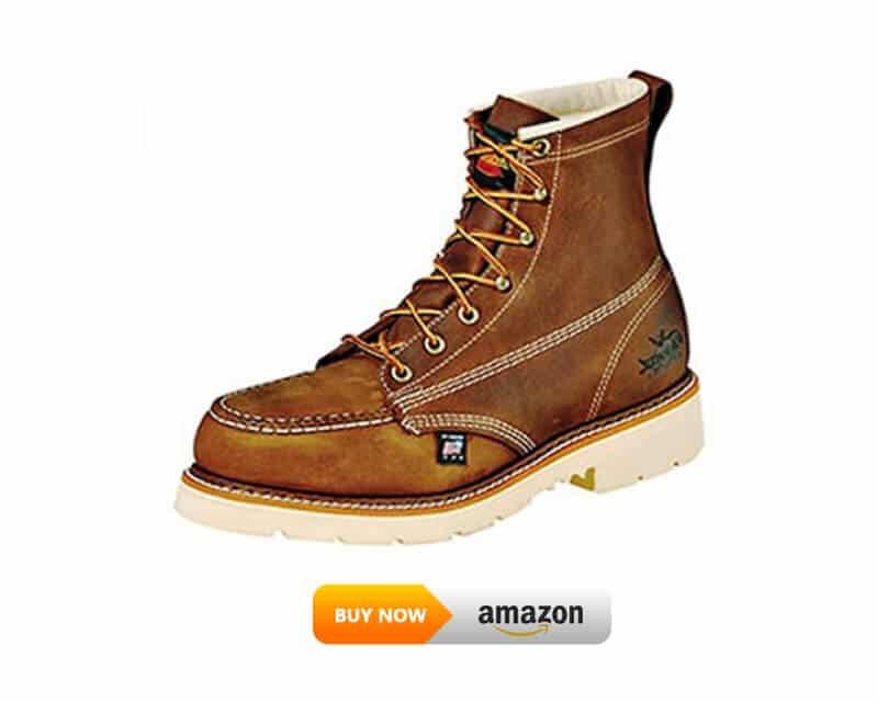 "2. Thorogood Men's American Heritage 6"" Moc Toe, MAXWear 90 Safety Toe Lineman Work Boot"